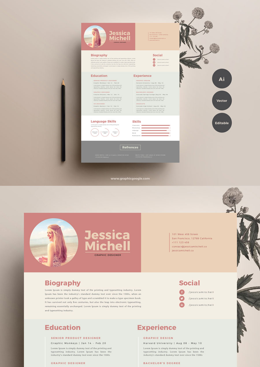Free-Creative-Resume-Design-Template