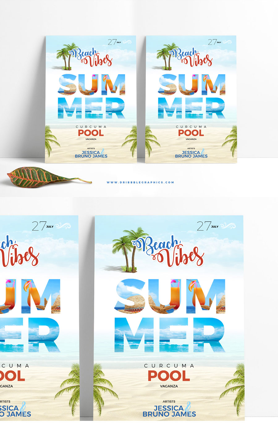 Free-Creative-Summer-Beach-Party-Flyer-Template