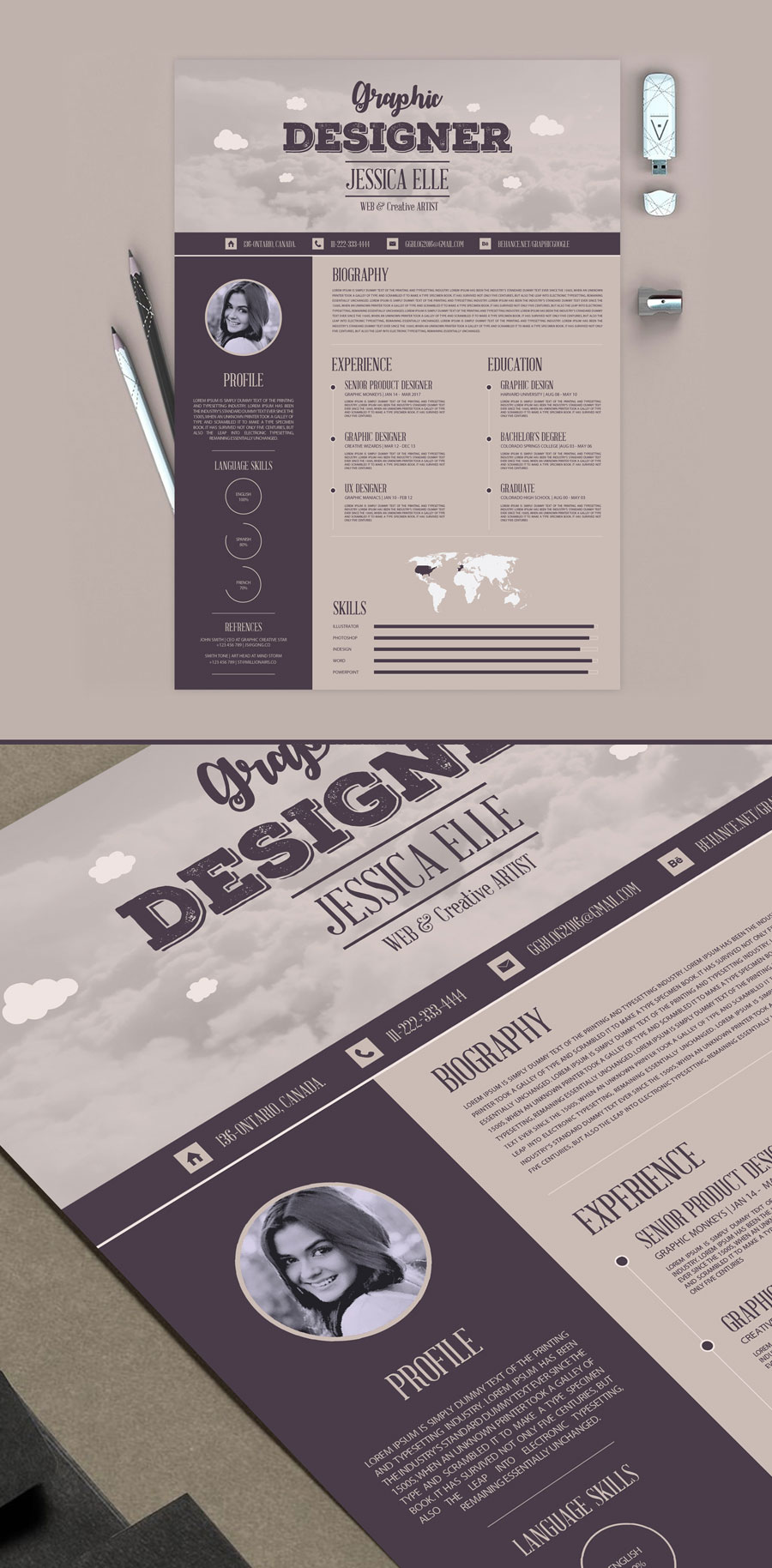 Free-Creative-Vintage-Resume-Design-Template