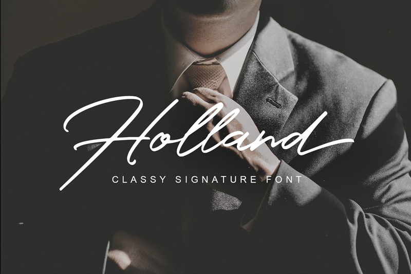 Free-Holland-Classy-Signature-Font-1