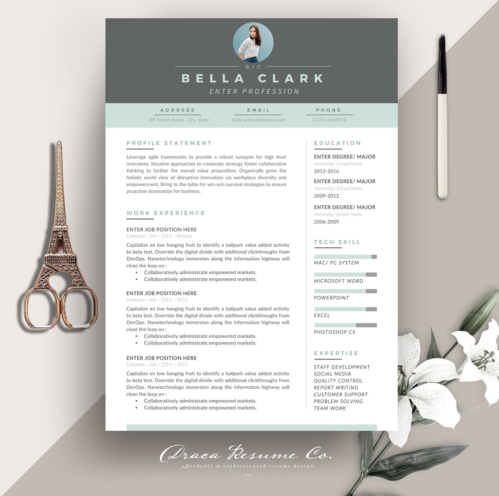 Free-Resume-Design-Template-For-Professionals