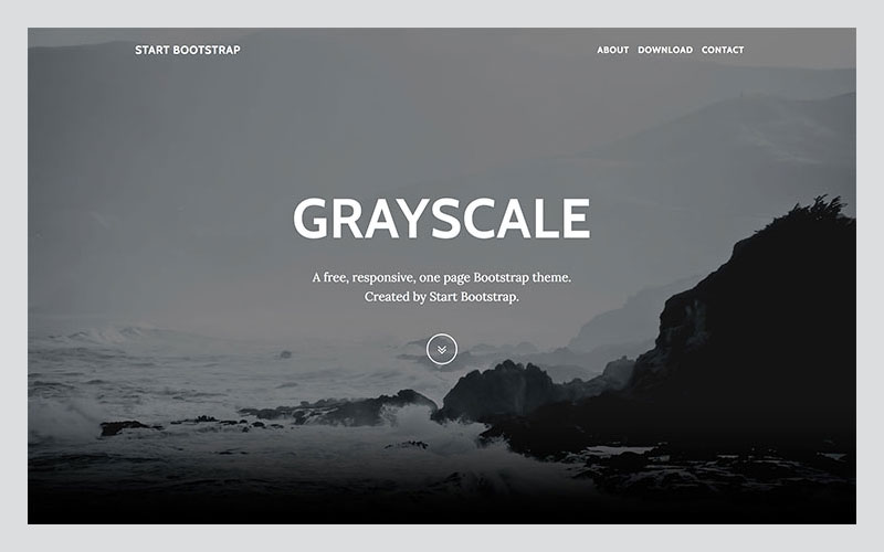 Grayscale-A-Free-Multipurpose-One-Page-Bootstrap-theme