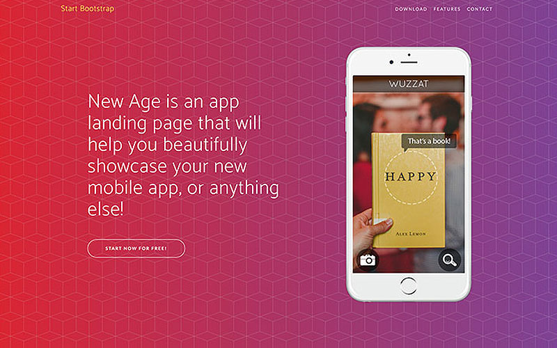 New-Age-Free-Bootstrap-App-Landing-Page-Theme