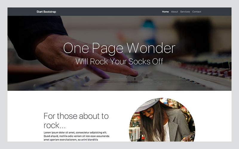 One-Page-Wonder-A-Simple-One-Page-Bootstrap-4-Website-Template