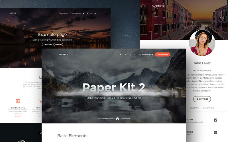 Paper-Free-Bootstrap-4-UI-Kit