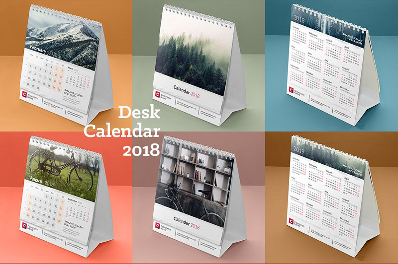 12-Pages-with-Cover-Page-Desk-Calendar-2018