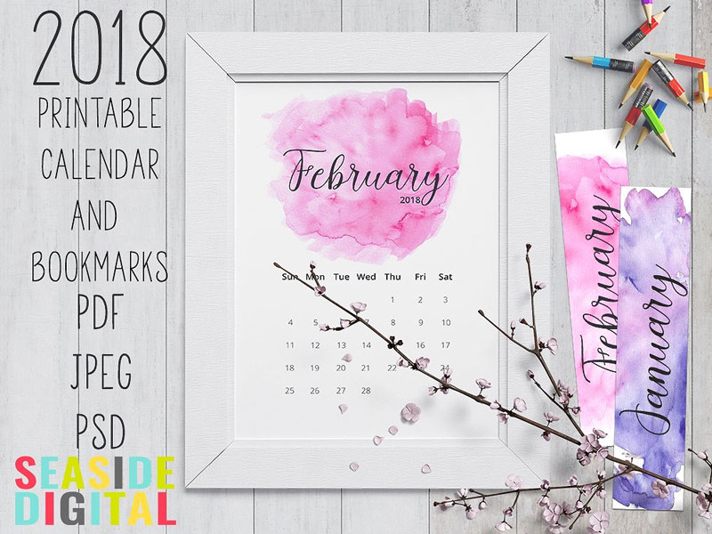 2018-Printable-Hand-Painted-Watercolor-Calendar