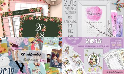 50+-World-Best-Newest-Printable-2018-Calendar-Templates
