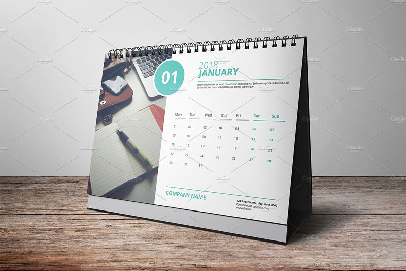 Corporate-Desk-Calendar-Template-2018