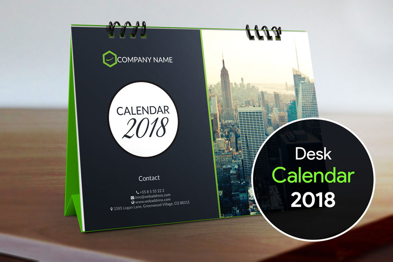 Desk-Calendar-2018-Design-Template