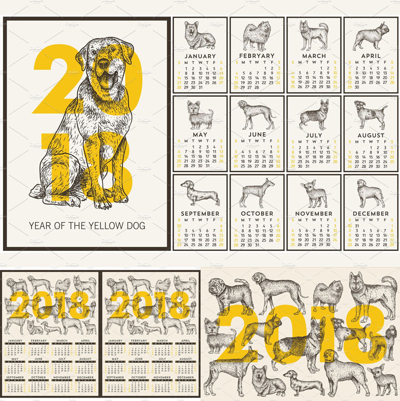 Dog-Illustration-2018-Calendar