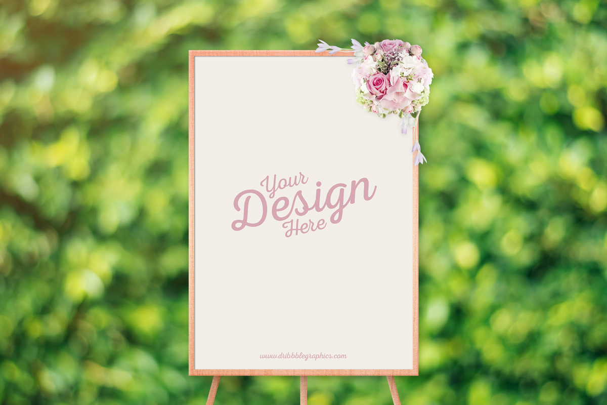 Free-Beautiful-Ceremony-Frame-Stand-Mockup