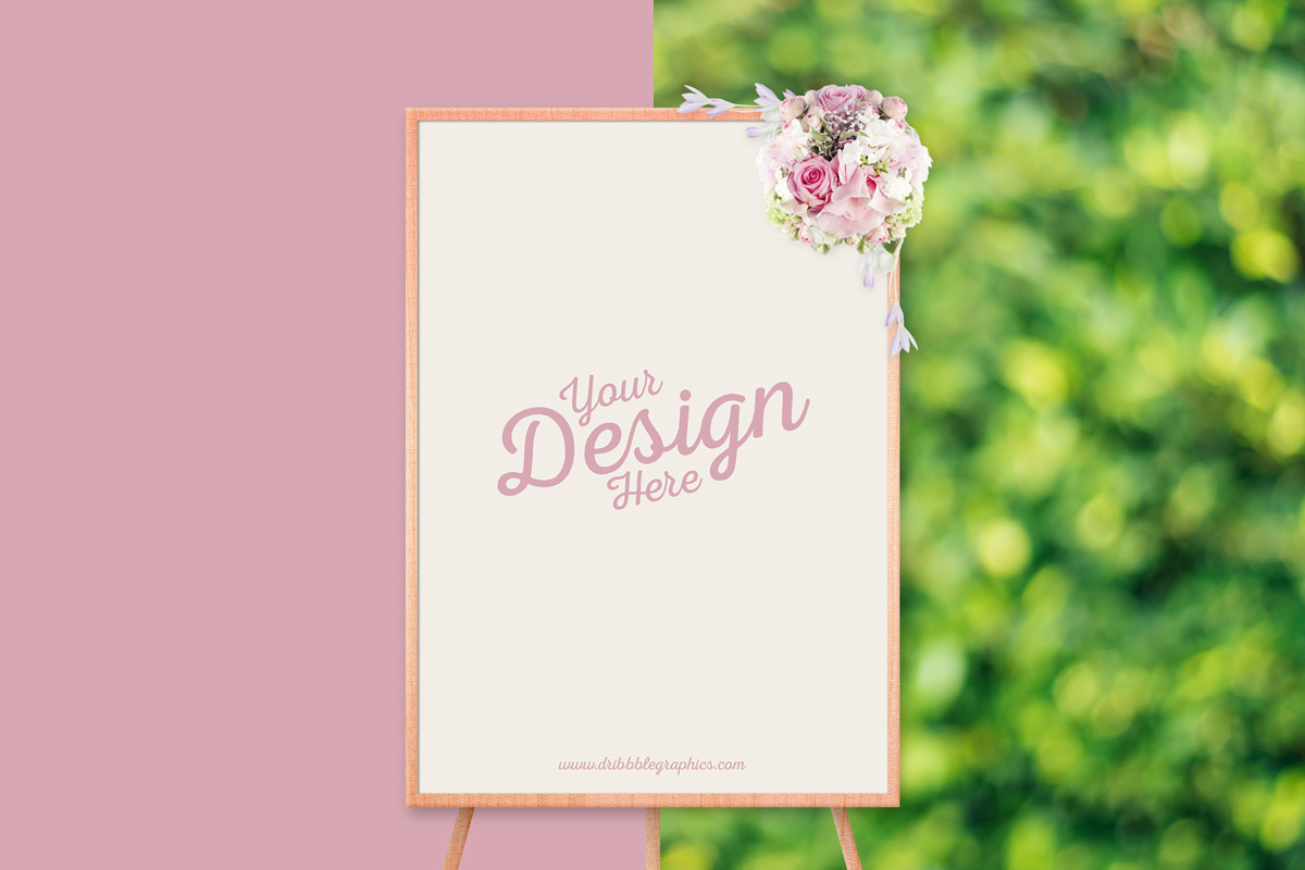 Free-Beautiful-Ceremony-Frame-Stand-PSD-Mockup