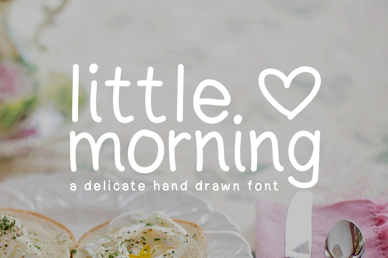 Free-Little-Morning-Hand-Drawn-Font