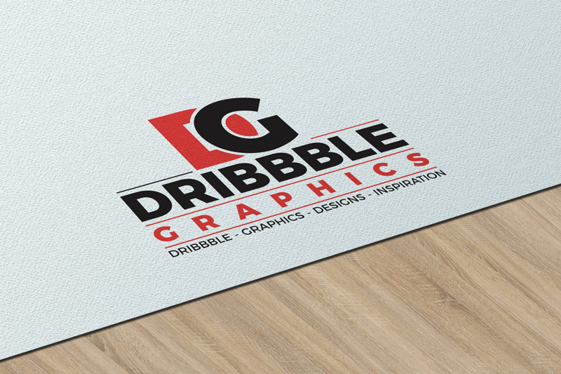free texture paper logo mockup on wooden table