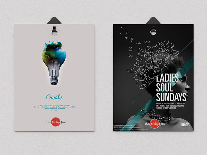 Free-2-Poster-Hanging-With-Clips-Psd-Mockup