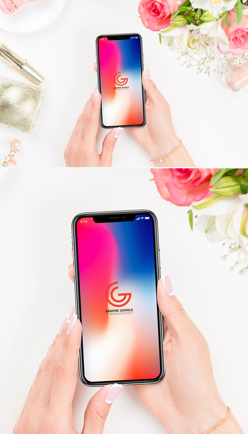 Free-Beautiful-Women-Holding-iPhone-X-Mockup