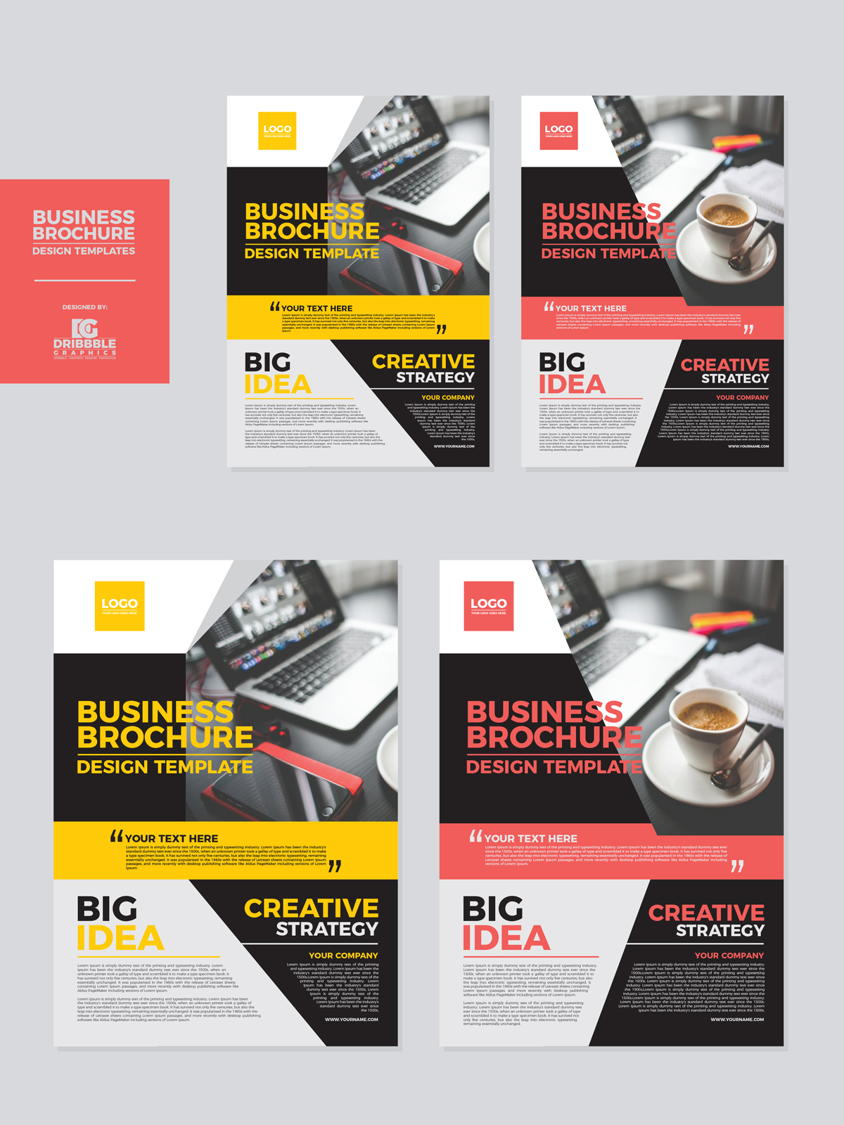 Free business brochure design templates dribbble graphics for Free business brochures templates