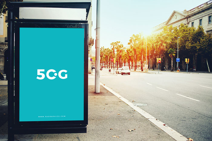 Free-Outdoor-Bus-Stop-Billboard-Mockup-For-Branding-&-Advertisement