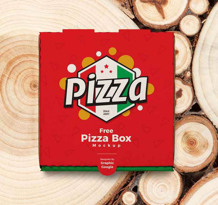 Free-Pizza-Box-on-Tree-Wood-Background-Mockup