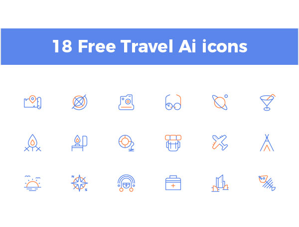 18-Free-Travel-Ai-icons