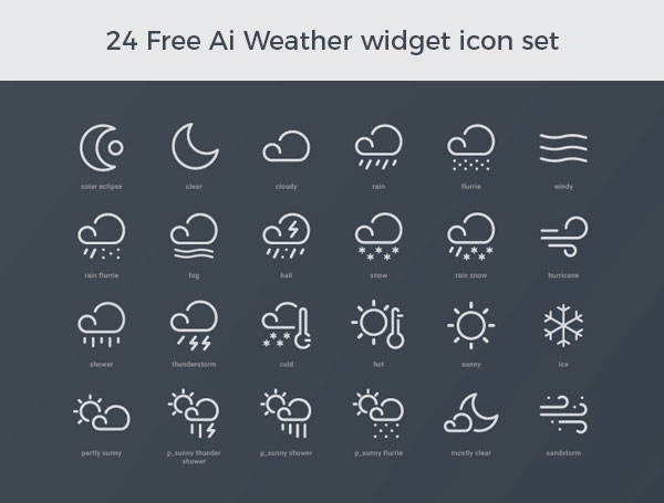 24-Free-Ai-Weather-widget-icon-set