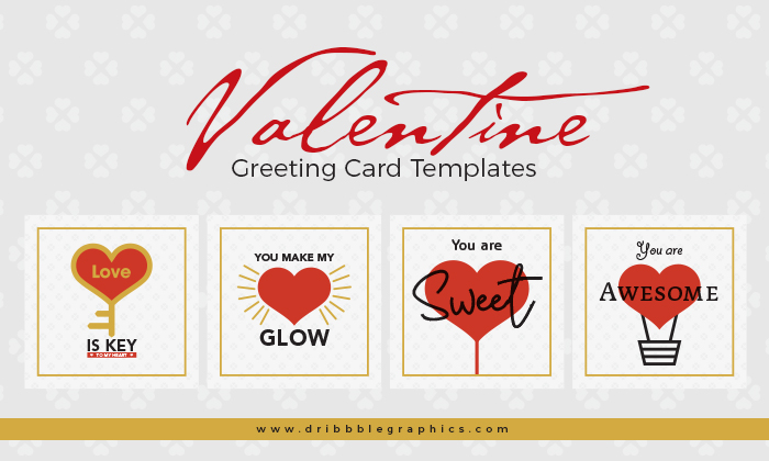 Free Valentine Greeting Card Templates  Dribbble Graphics
