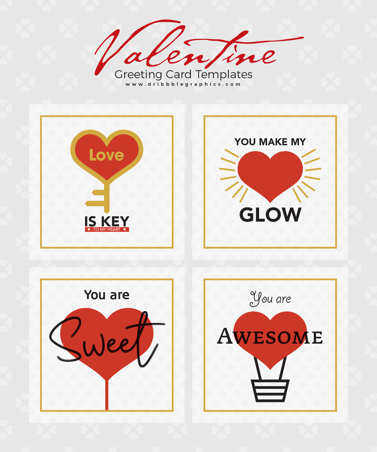 4-Free-Valentine-Greeting-Card-Templates