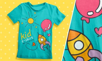 Free-Kids-T-Shirt-Mockup-For-Kids-Brands-2018