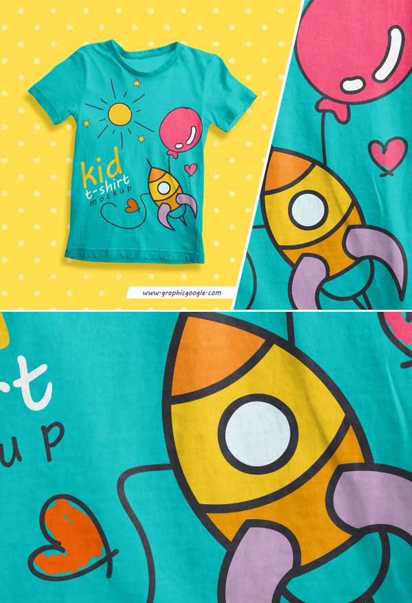 Free-Kids-T-Shirt-Mockup-For-Kids-Brands
