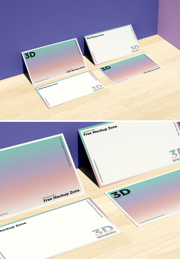 Free-PSD-Business-Card-on-Wooden-Floor-Mockup