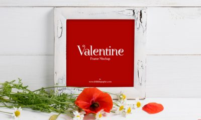 Free-Valentine-Red-Poppies-With-Frame-Mockup-2018
