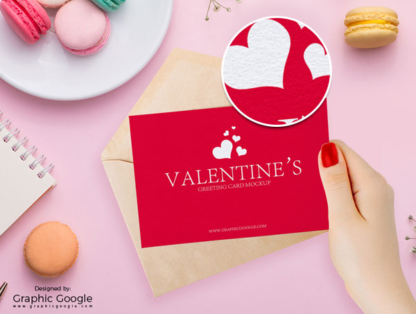 Free-Valentines-Greeting-Card-in-Girl-Hand-PSD-Mockup