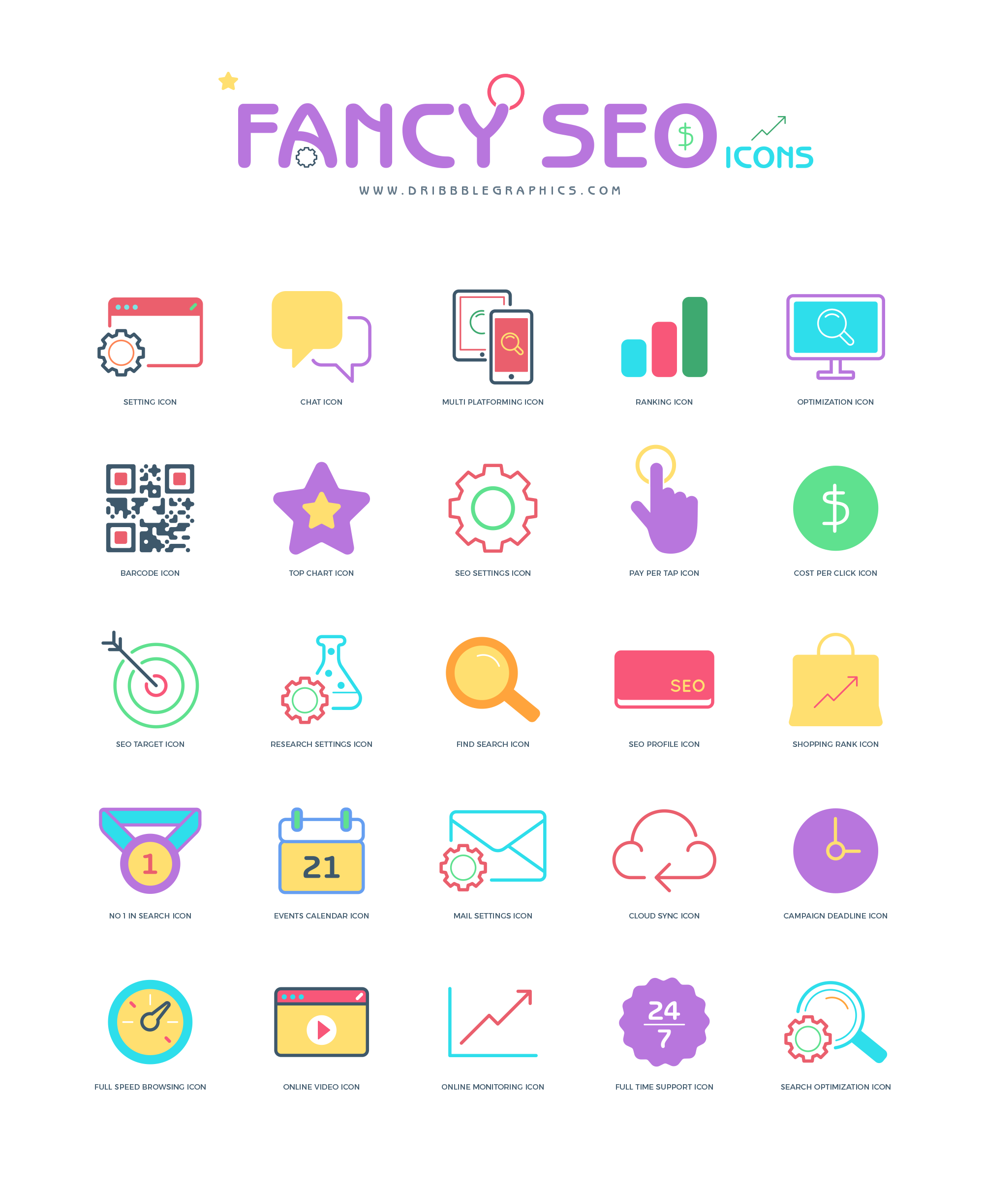 25-Free-Flat-Fancy-Seo-Icons-2018