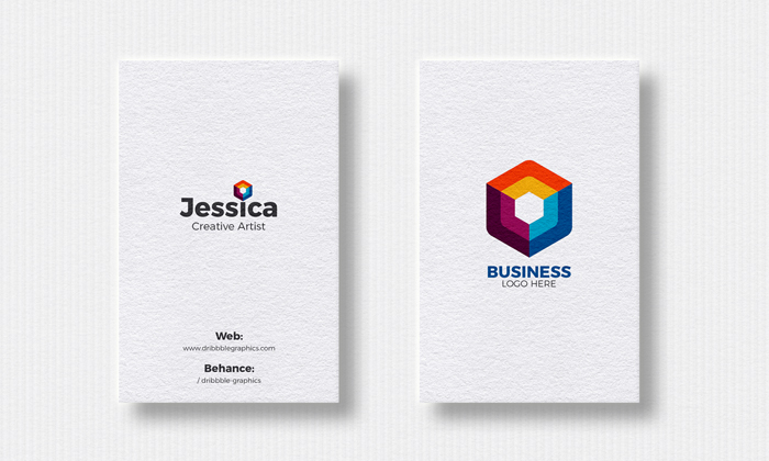 Free 2 vertical business cards mockup for designers 2018 dribbble free 2 vertical business cards mockup for designers 2018 dribbble graphics reheart Images