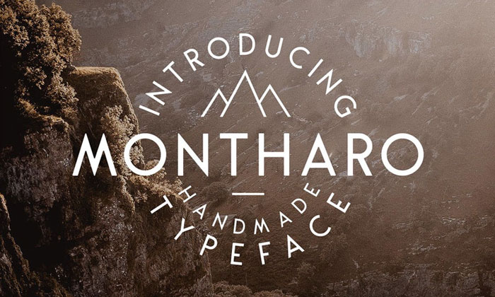 Free-Montharo-Typeface-For-Creative-Artists
