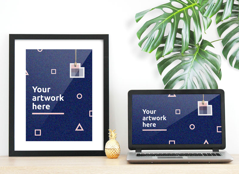 Free-Poster-With-Laptop-Mockup-2018