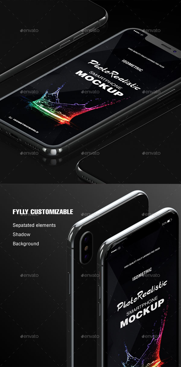 Fully-Customizable-Isometric-Phone-X-Mockup-2018-Preview-1