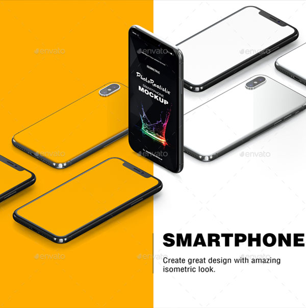 Fully-Customizable-Isometric-Phone-X-Mockup-2018-Preview-2