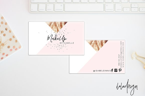 Geometric-MakeUp-Business-Card