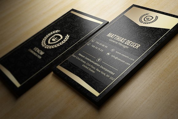 Gold-And-Black-Business-Card