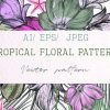 Hand-Drawn-Tropical-Vector-Seamless-Pattern-Graphics-Elements-300