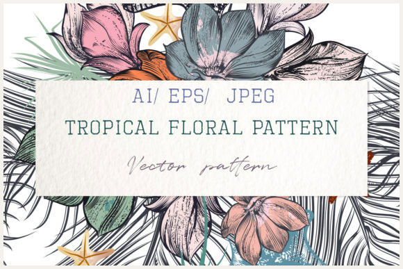 Hand-Drawn-Tropical-Vector-Seamless-Pattern-Graphics-Elements