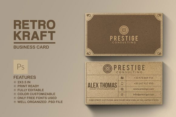 Retro-Kraft-Business-Card