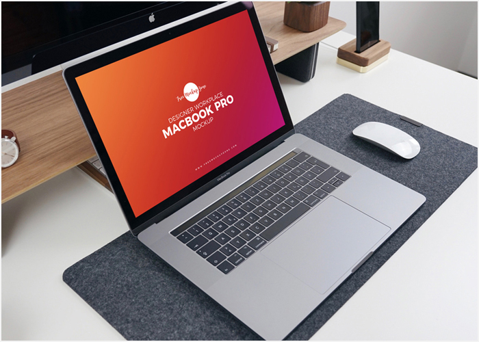 Free-Designer-Workplace-MacBook-Pro-Mockup-PSD-2018