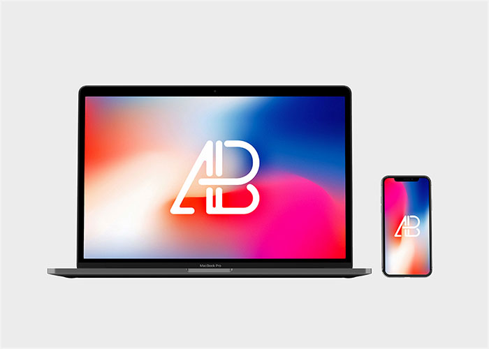 Front-View-Iphone-X-And-Macbook-Pro-Mockup
