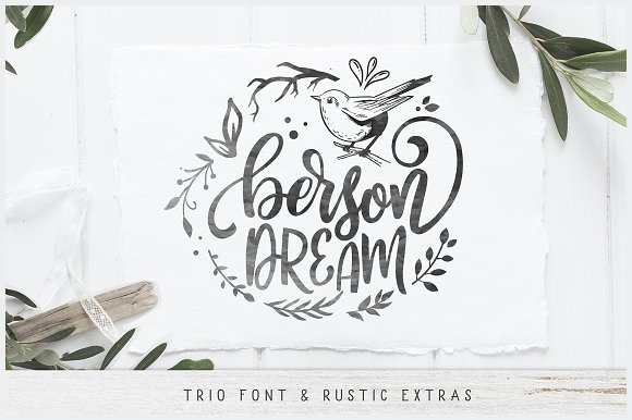 Berson-Dream-Font-TRIO-and-extras