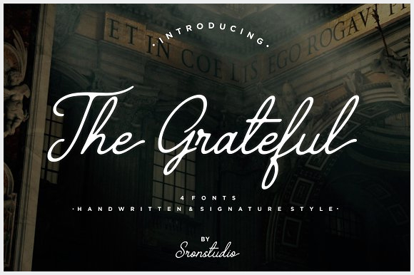 The-Grateful-Script-4-Fonts