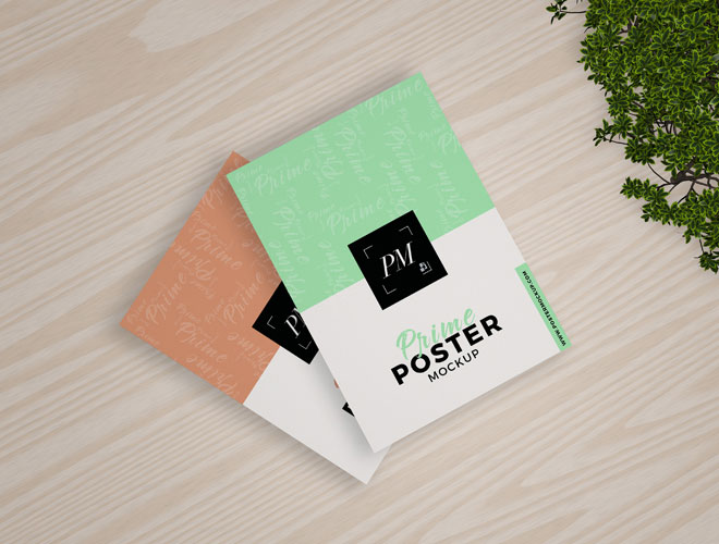 Prime-Posters-Mockup-With-Wooden-Floor