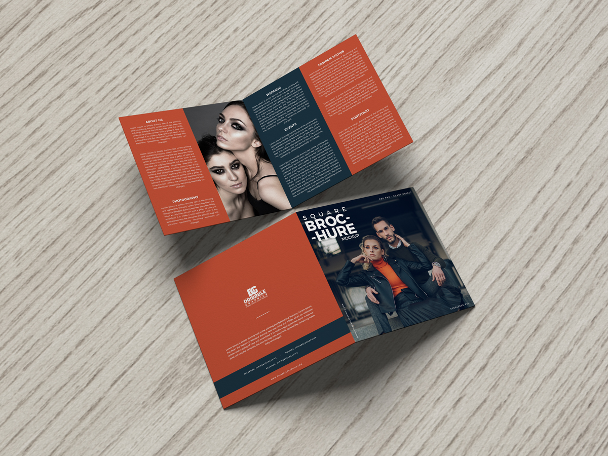 Free-Bi-Fold-Square-Brochure-Mockup-on-Wooden-Background